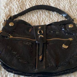 Beautiful Donna Karen new black sequin bag
